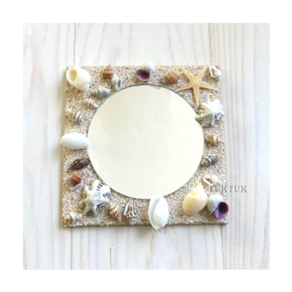 「貝殻とサンゴ砂のミラー」ワークショップ
