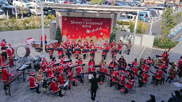 近隣4中学校吹奏楽部によるクリスマス音楽祭