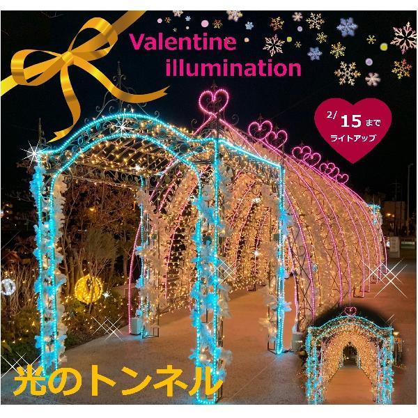 バレンタインイルミネーション☆光のトンネル