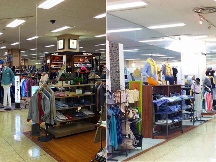 2F衣料品売場