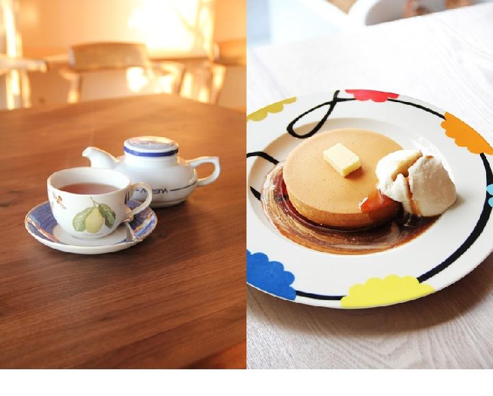 紅茶&パンケーキ