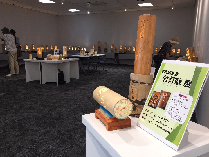 竹細工展示の様子