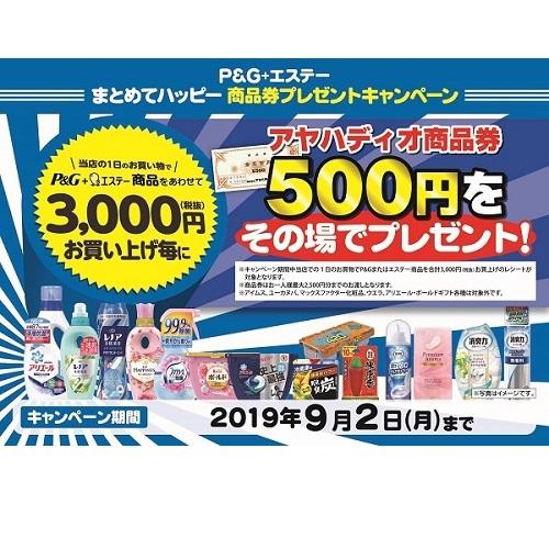 P&G+エステー 商品券キャンペーン