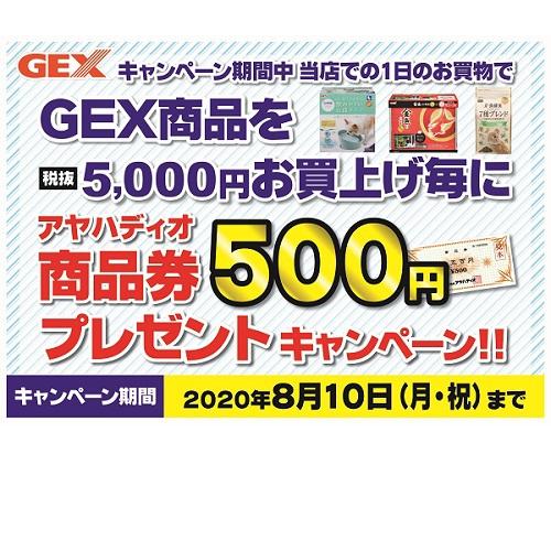 GEX商品券キャンペーン 開催!