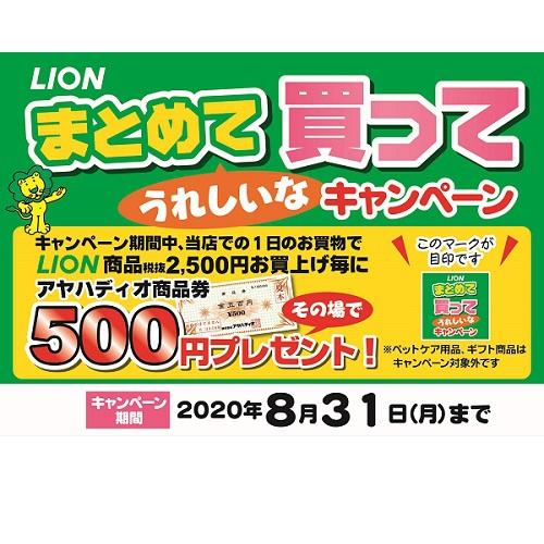 ライオン 商品券キャンペーン 開催!