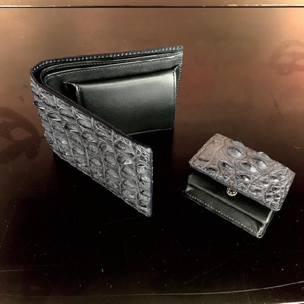 クロコダイルホーンバックを使用したお財布&小銭入れが入荷!