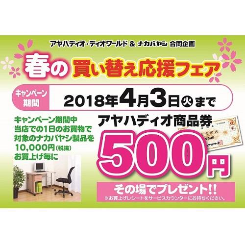 ナカバヤシ 商品券キャンペーン